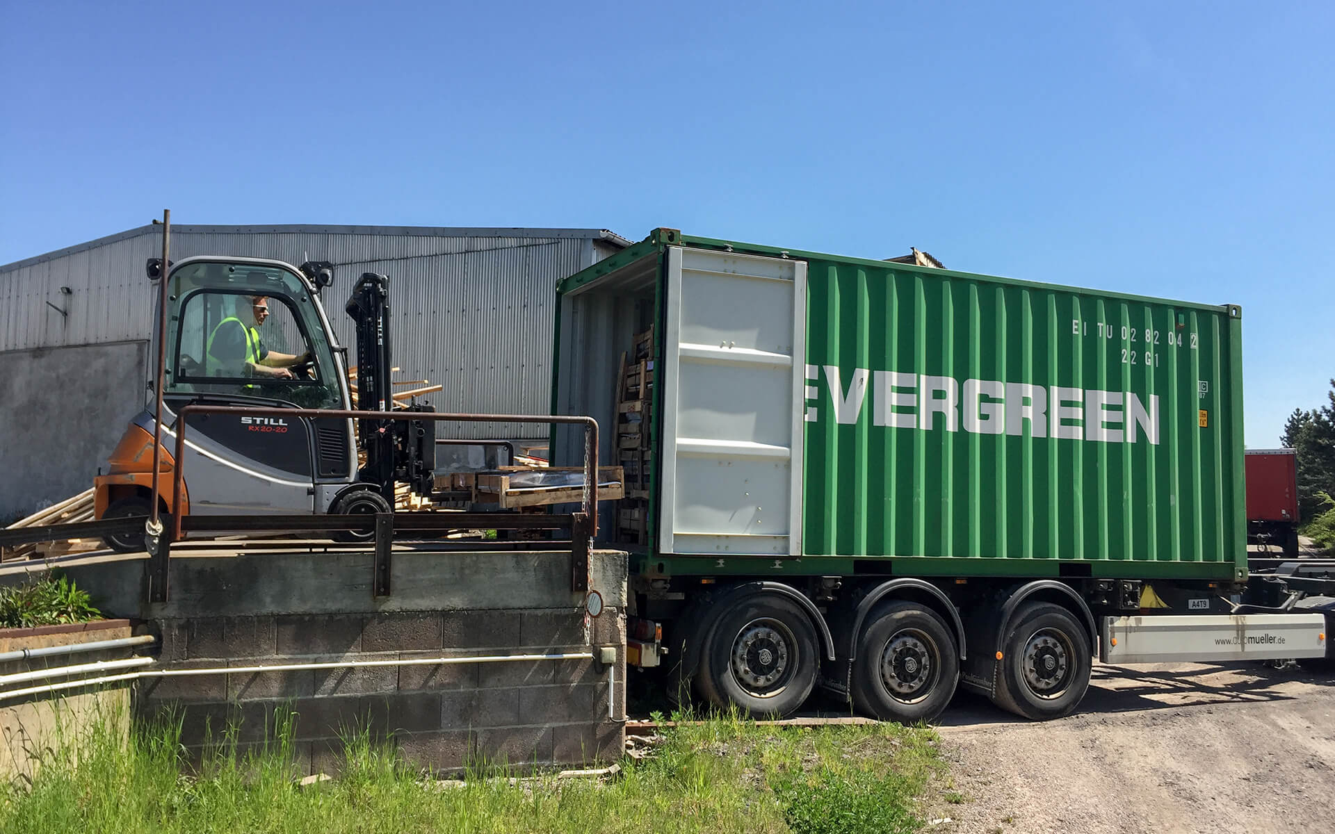 Container Be- und Entladung